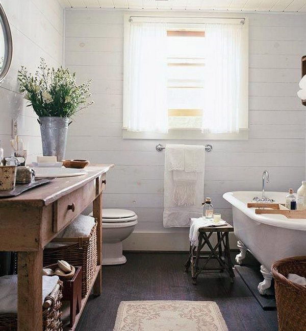 Baños rústicos diseño