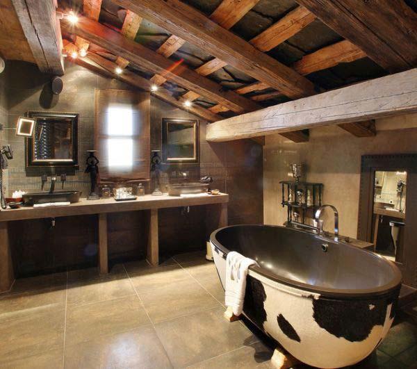 diseño baños estilo rustico