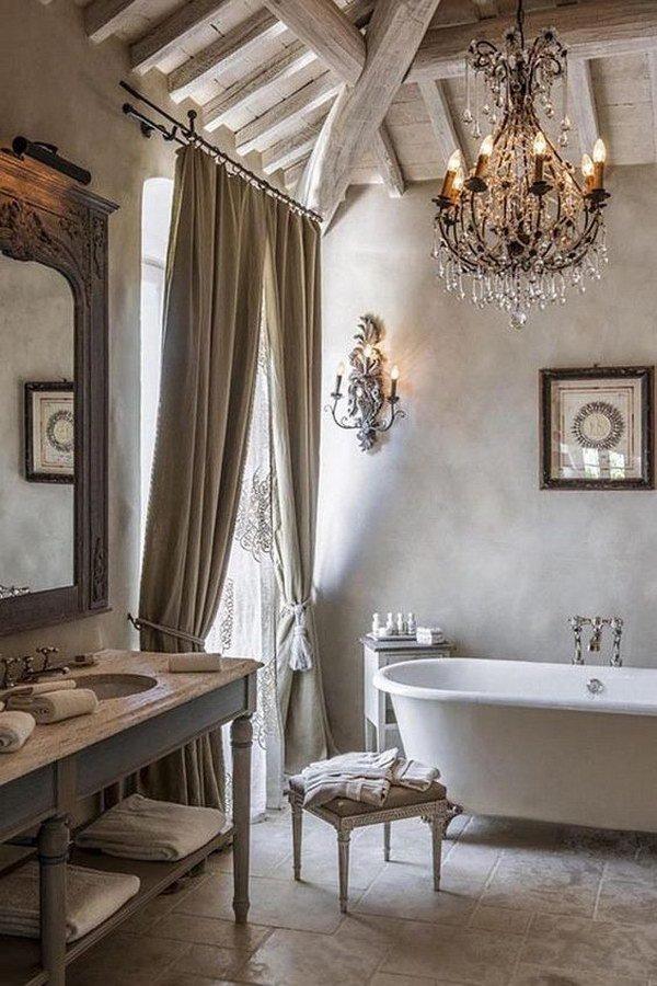 baños rusticos estilo