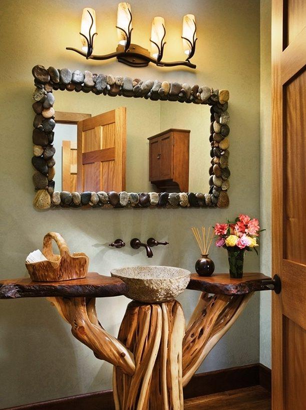 Baño Rustico De Obra:de estilo rústico no están reñidos con una decoración funcional de