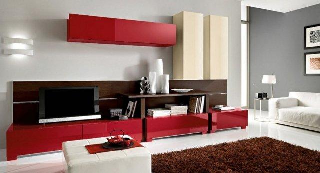 muebles rojos