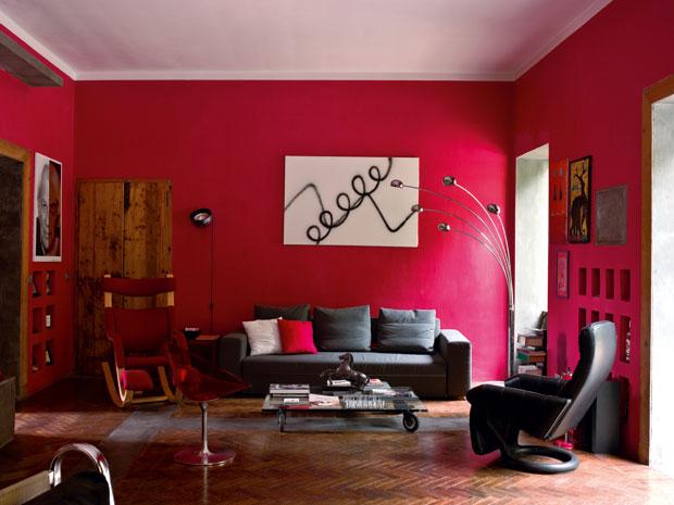paredes en rojo