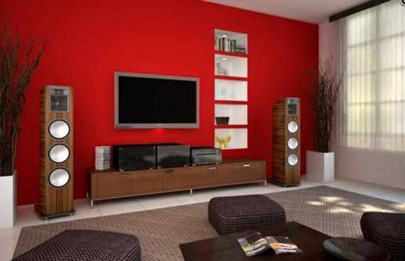 salon pared roja