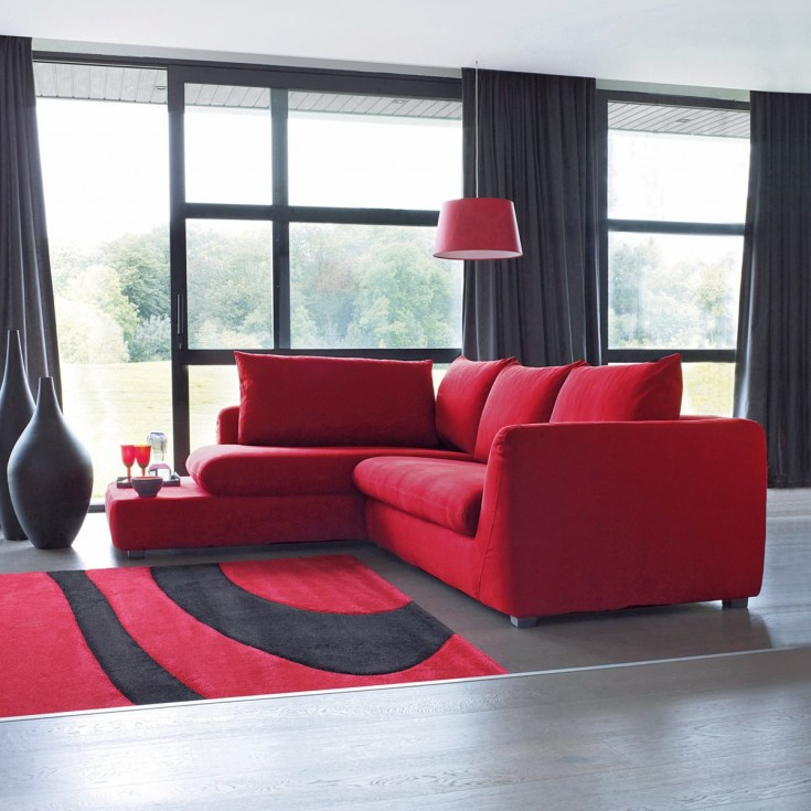 decorar sal n en rojo consejos e ideas hoylowcost. Black Bedroom Furniture Sets. Home Design Ideas