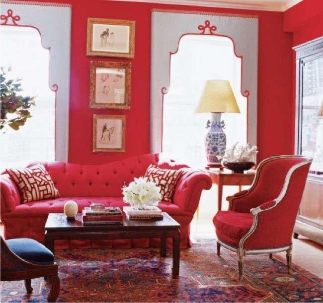salon tradicional rojo
