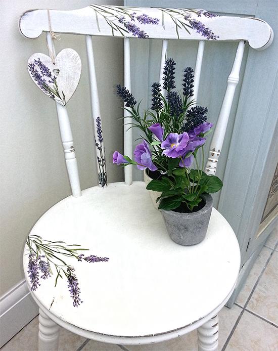 sillas con decoupage