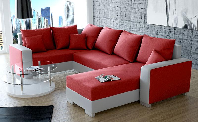 Decorar sal n en rojo consejos e ideas hoylowcost - Salon con sofa rojo ...