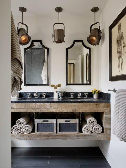 decoracion baño vintage moderno