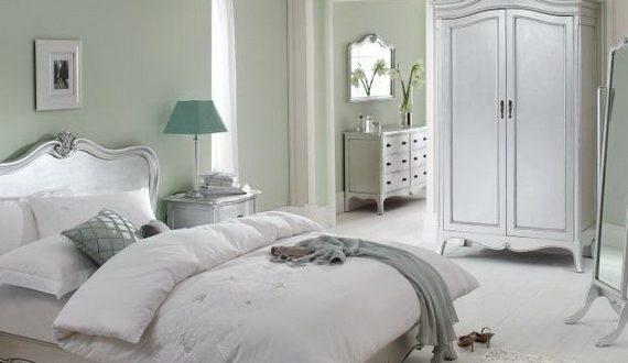 Decoracion dormitorio blanco vintage hoy lowcost for Dormitorio vintage blanco