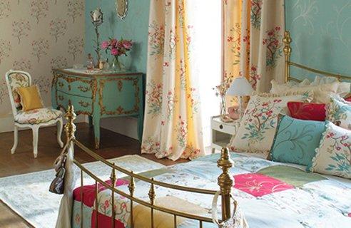 dormitorio vintage colores