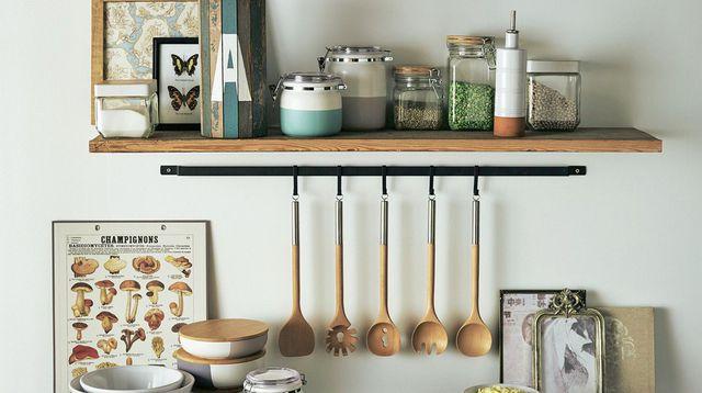 utensilios cocina organizados