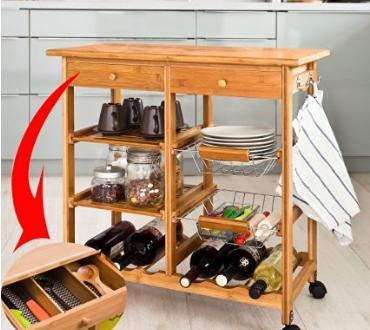 Muebles auxiliares cocina amazon hoy lowcost for Muebles auxiliares de cocina