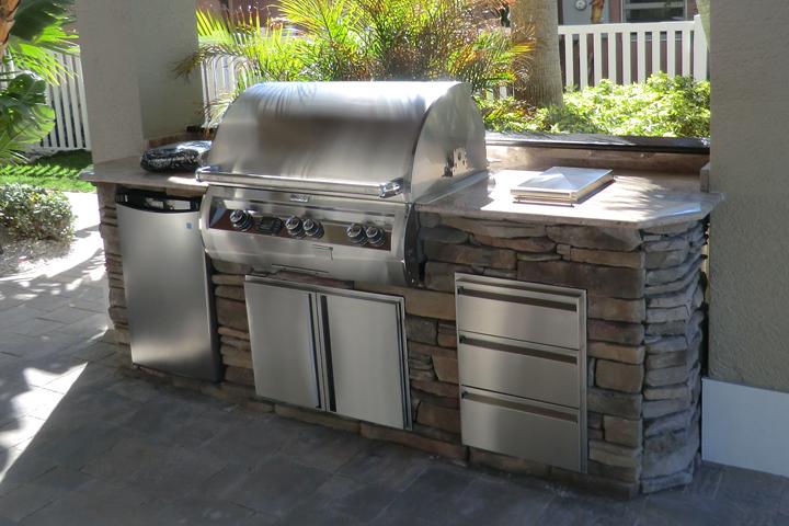 La cocina americana tendencia y soluci n - Cocinas exteriores modernas ...