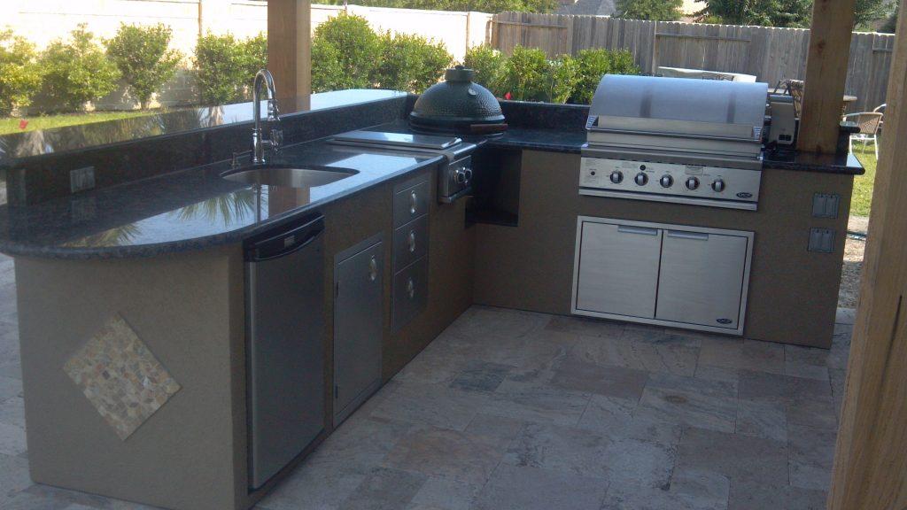 Cocina integrada barbacoa para exteriores hoy lowcost for Cocina barbacoa exterior