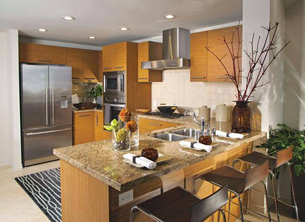 La cocina americana tendencia y soluci n - Cocinas pequenas con barra americana ...