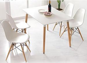 Mesa y sillas comedor estilo nordico amazon hoy lowcost for Sillas comedor amazon