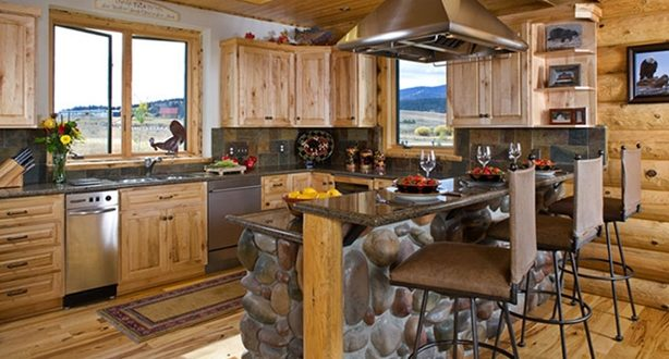 Cocina con barra estilo rustico hoy lowcost for Barra estilo industrial