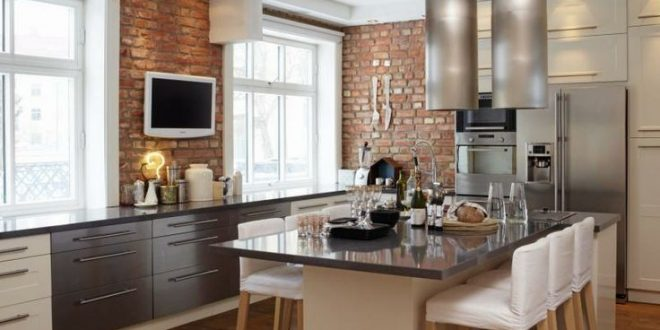 revestimientos rusticos cocinas modernas hoy lowcost