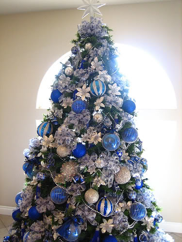 Christmas Tree Blue And Silver Theme : Ideas de decoraci?n navidad en blanco y azul