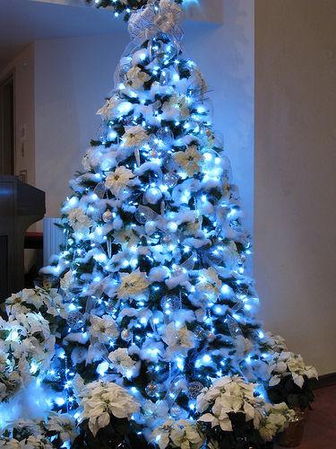 ideas de decoracin de navidad en blanco y azul