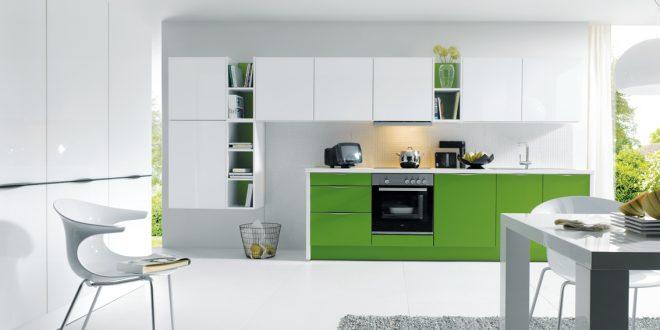 Cocinas decoradas blanco y verde hoy lowcost - Cocinas decoradas en blanco ...