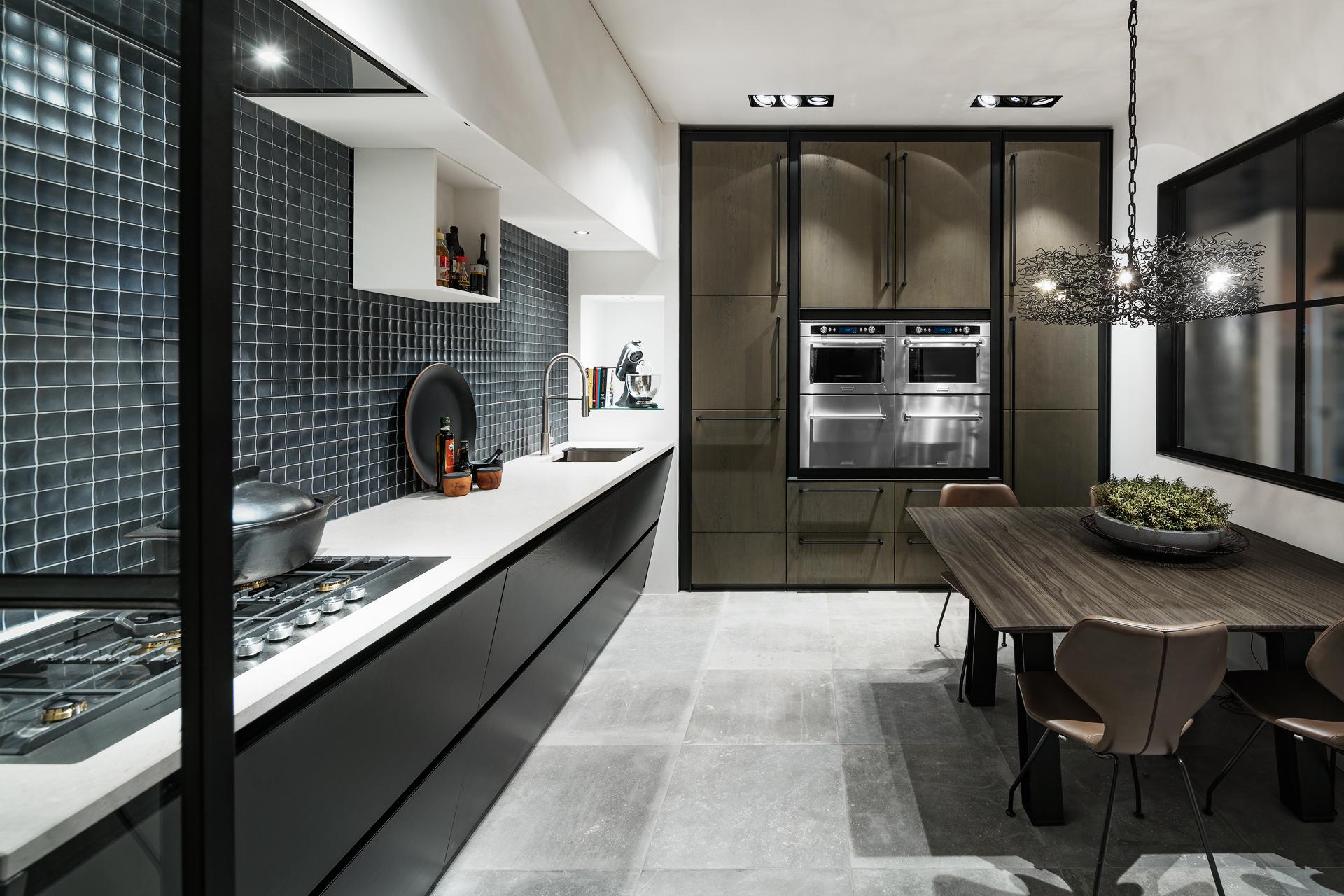 Cocinas decoradas en blanco interesting negro taburetes - Cocinas decoradas en blanco ...