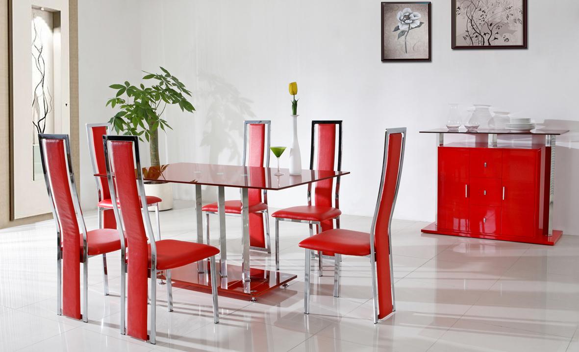 sillas-de-comedor-rojas-modernas | Hoy LowCost