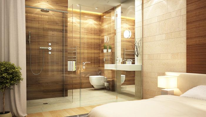 baños acristalados dormitorios
