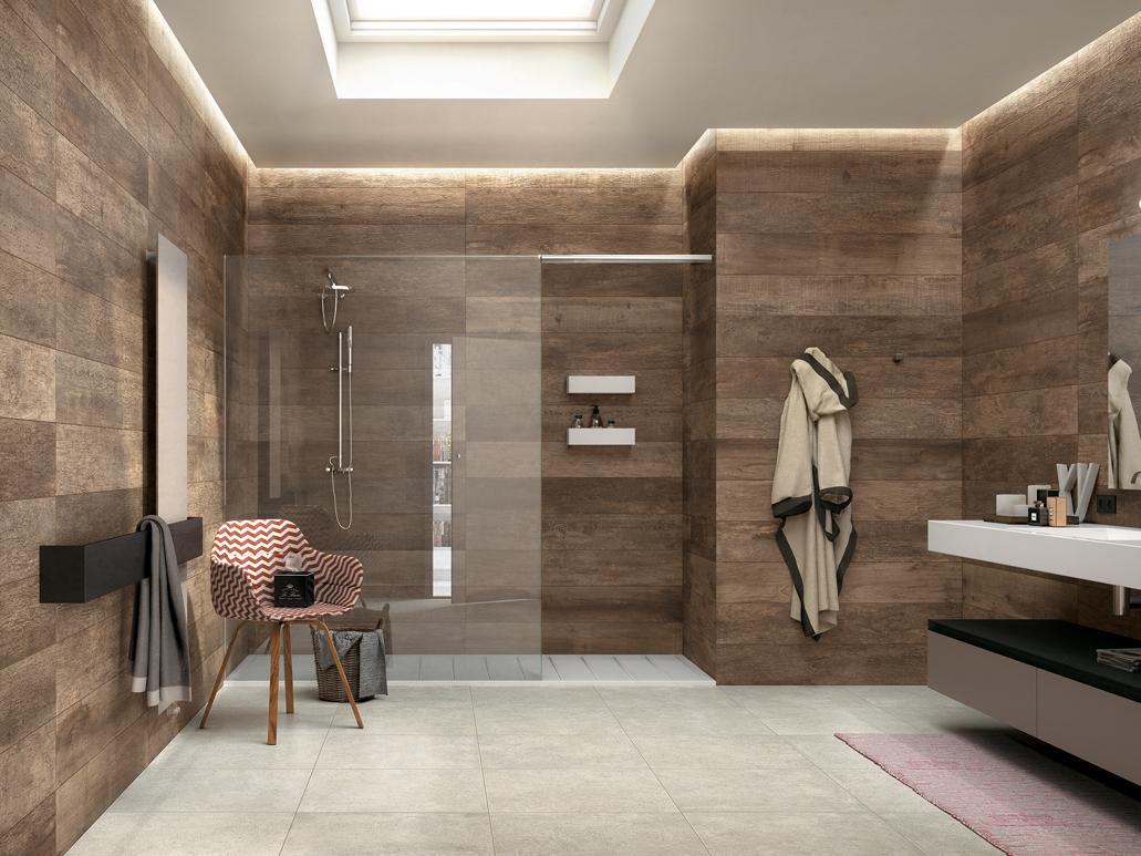 aseos con ducha minimalistas
