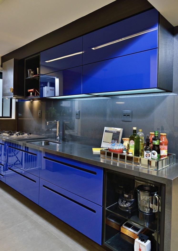 cocina azul brillante | Hoy LowCost