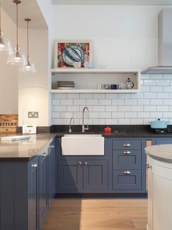 Cocinas azules 2017 la cocina m s original hoylowcost for Cocina pintura pato azul