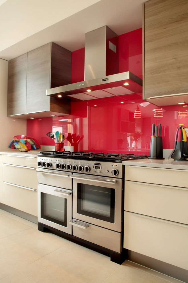 Decoracion Paredes Rojas En 2017 No Te Lo Pierdas Hoylowcost - Cocinas-en-rojo