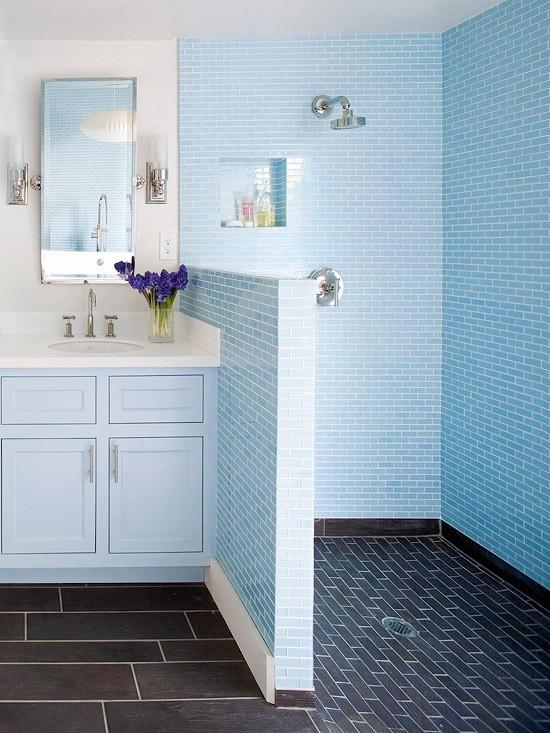 cuarto baño ducha de obra