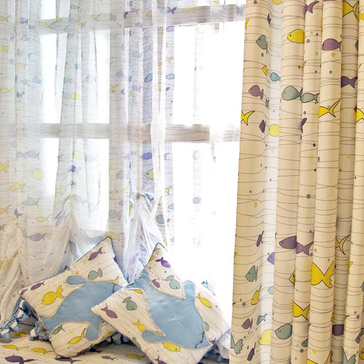telas cortinas infantiles 2017