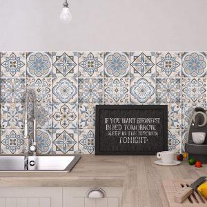 vinilo azulejos cocinas azules
