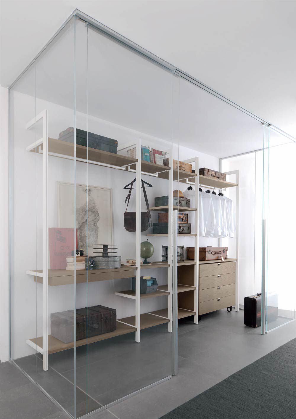 paredes de cristal espacios pequeños