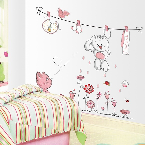 Vinilos infantiles decorativos 2017 todo lo que debes for Stickers para decorar paredes infantiles
