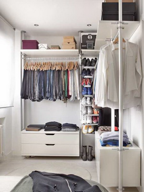 Vestidores peque os ideas perfectas para 2018 hoy lowcost for Closets abiertos pequenos