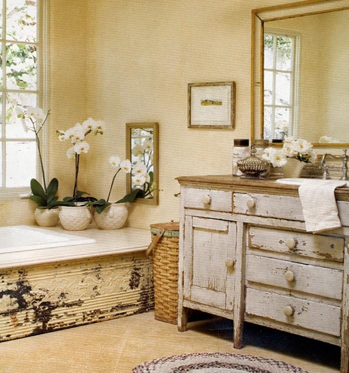 decoracion de baños vintage