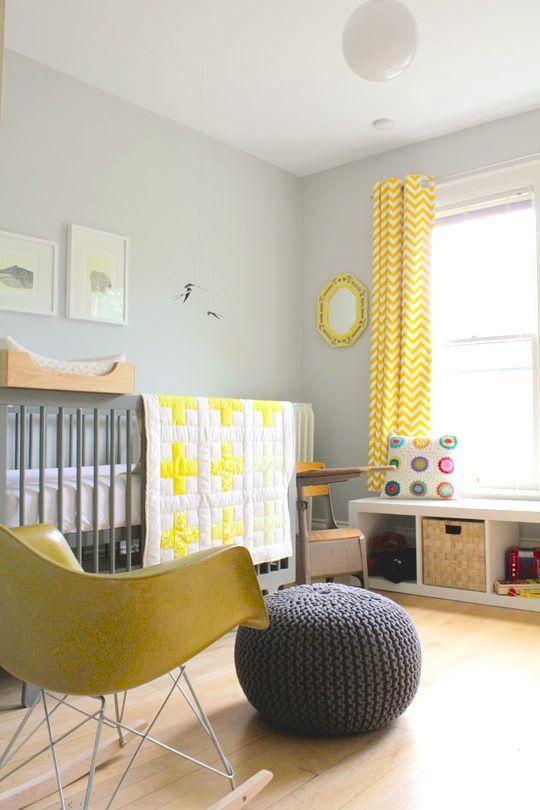 cortinas amarillas para bebes