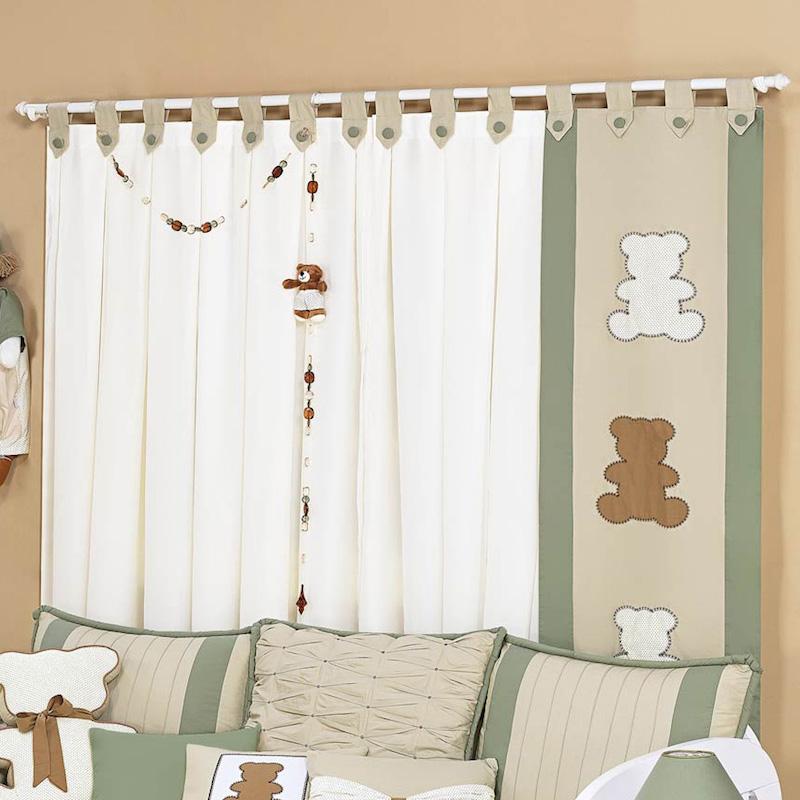 cortina y panel para bebes