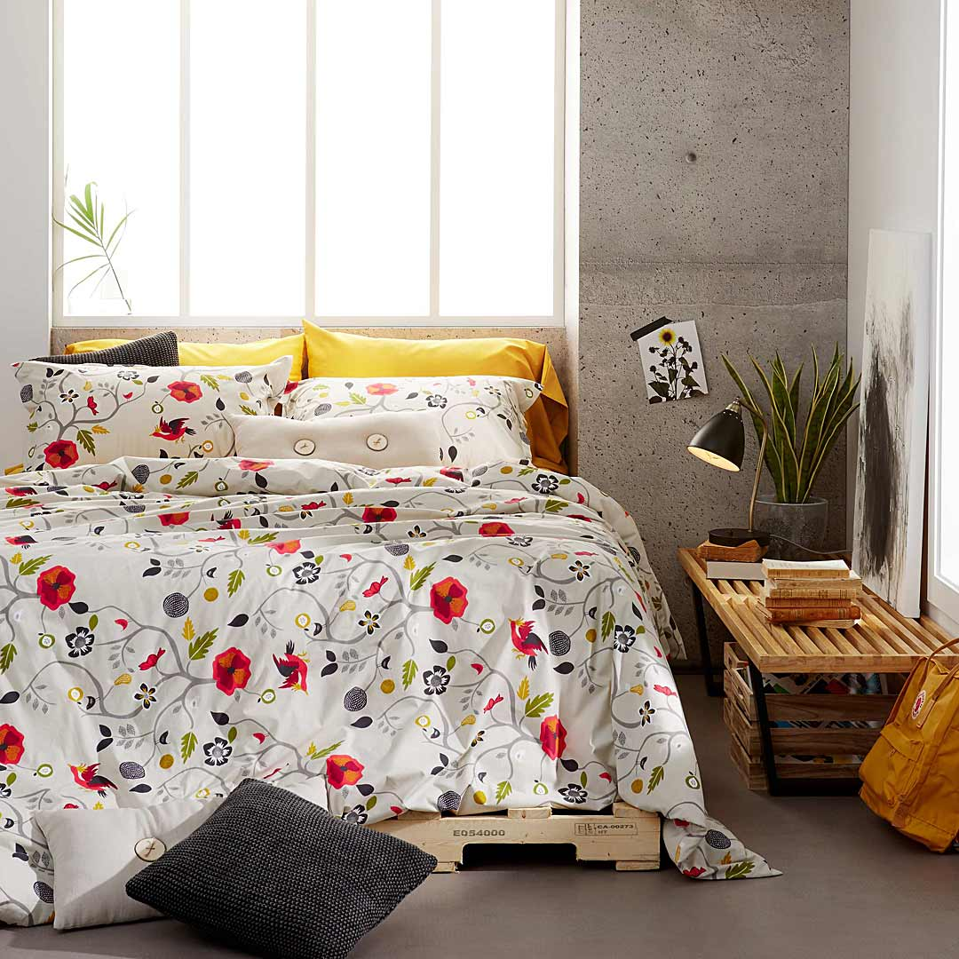 decoracion de cama funda nordica