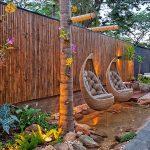 decoracion jardin balancin