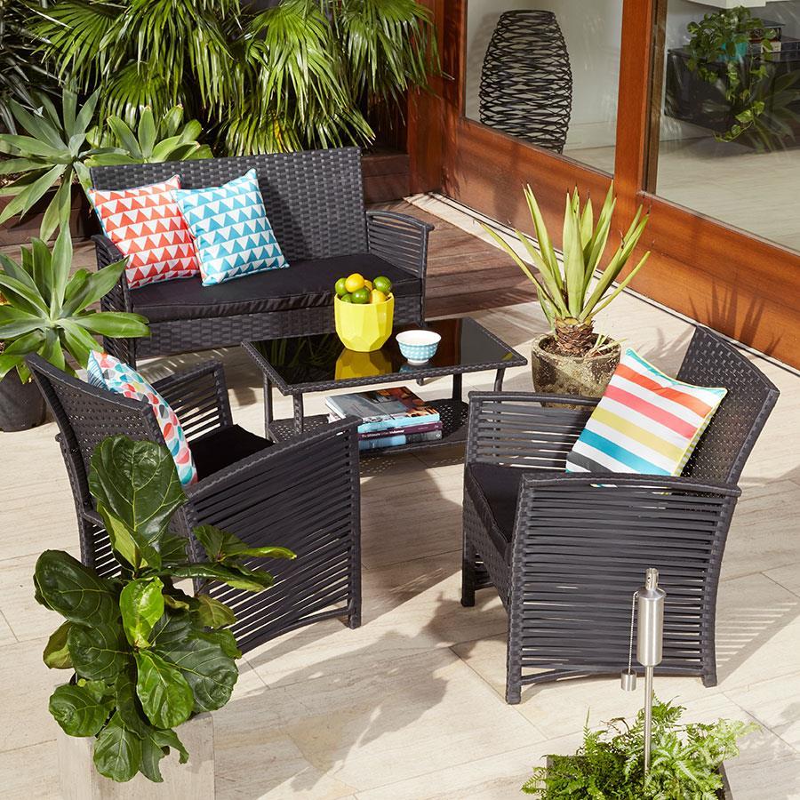 Muebles de terraza modernos estilos y tendencias 2018 for Conjuntos de jardin muy baratos