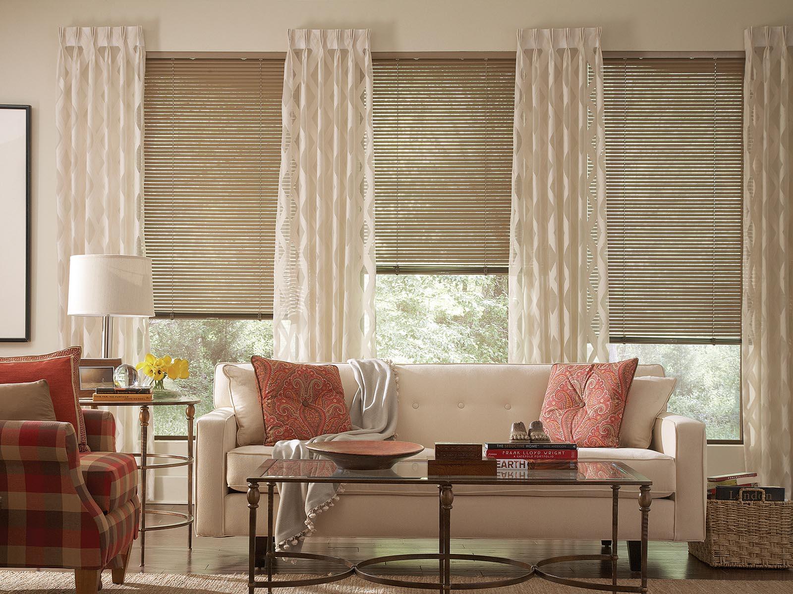 cortinas para persianas venecianas