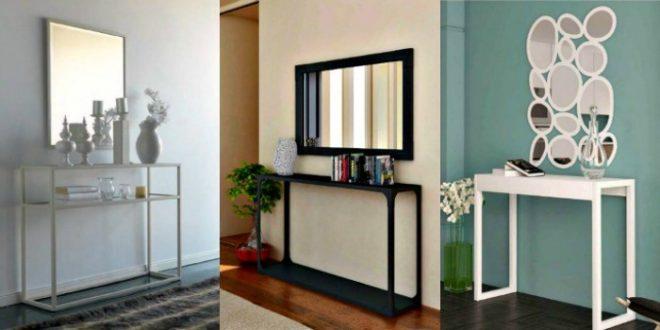 Recibidores modernos forja hoy lowcost for Recibidores modernos con espejos