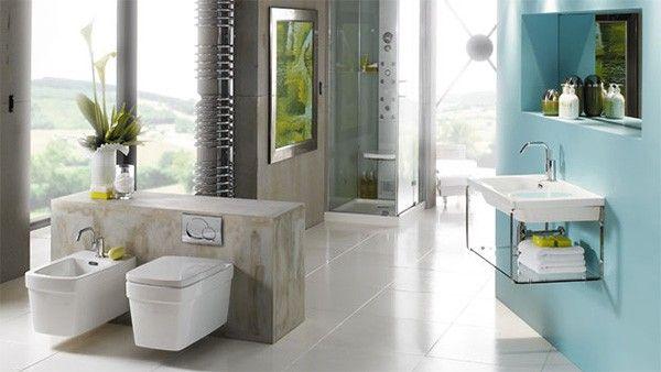 Curiosa decoracion baño moderno