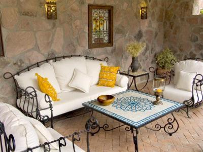 muebles exteriores en  hierro forjado