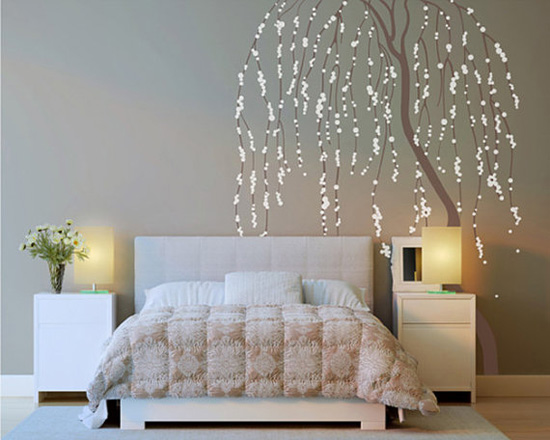 Vinilos pared dormitorio