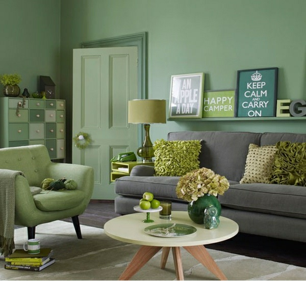 green and blue living room decor decoraci 211 n de salones peque 209 os la mejor paleta de color 26114